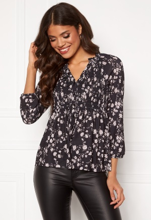 Happy Holly Alessi smock top Black / Patterned 36/38