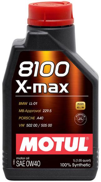 Moottoriöljy MOTUL 8100 X-MAX 0W40 1L