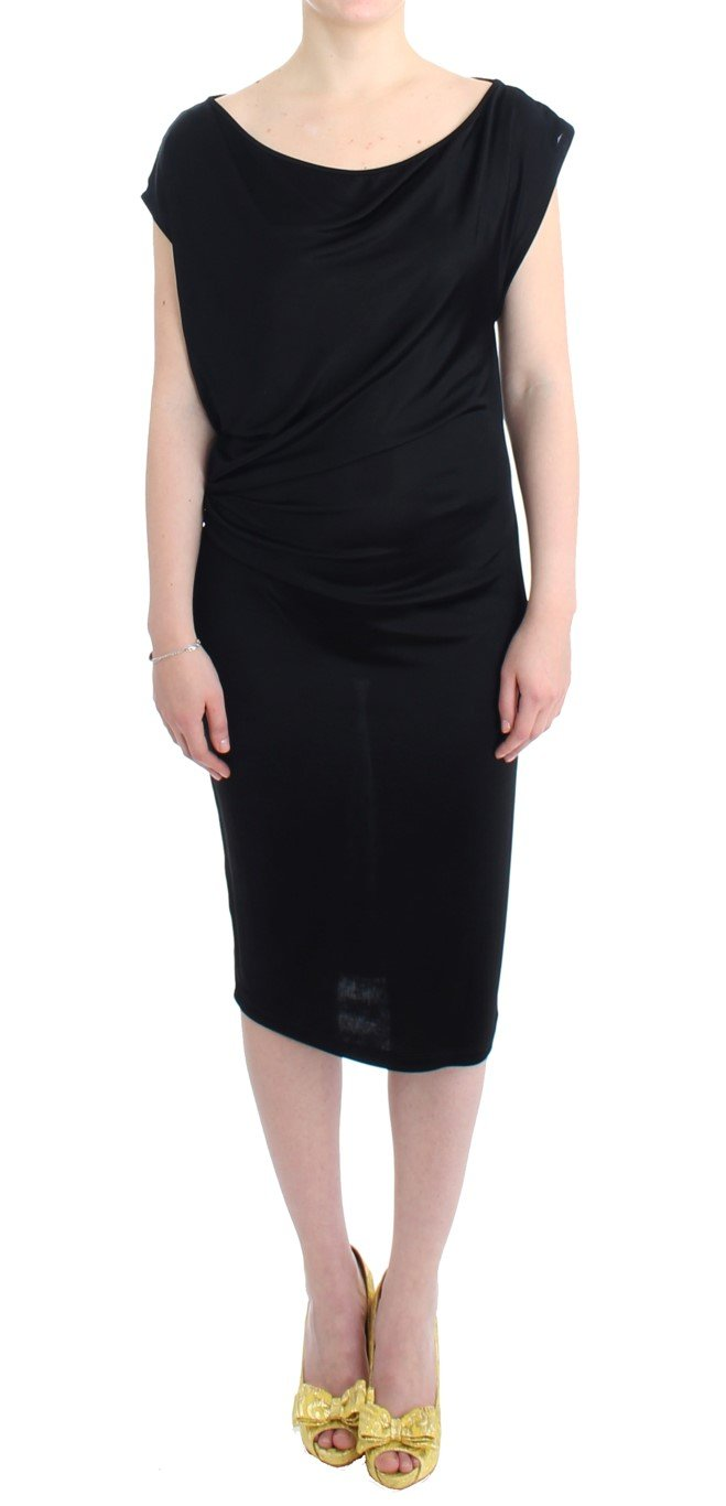 Costume National Women's Assymetric Dress Black SIG11637 - IT42 M