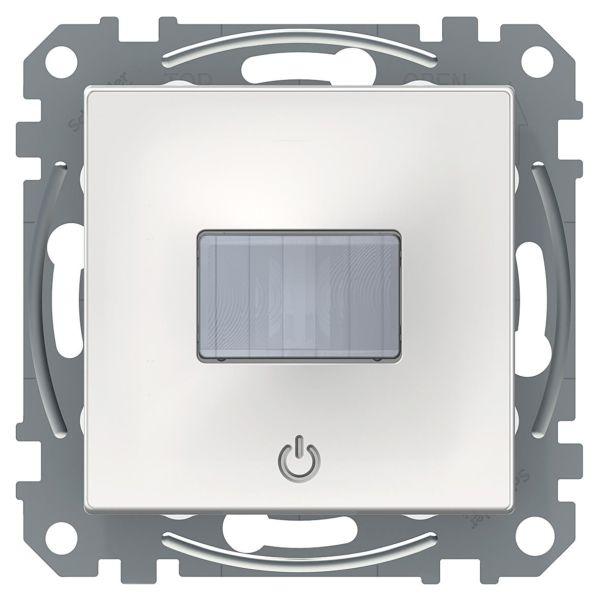 Schneider Electric Exxact Bevegelsessensor med trykknapp Hvit, blank