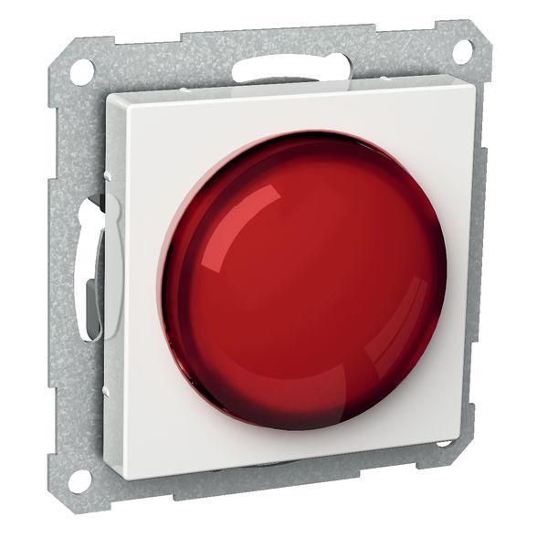 Schneider Electric Exxact Lyssignal E10, hvit Rød linse