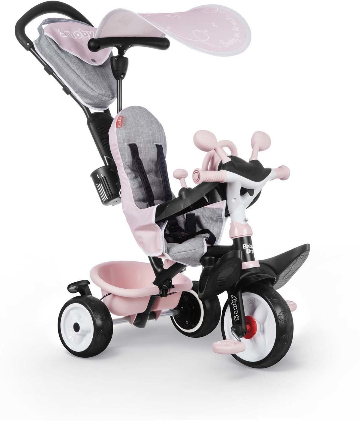 Smoby Trehjuling Baby Driver Plus, Pink