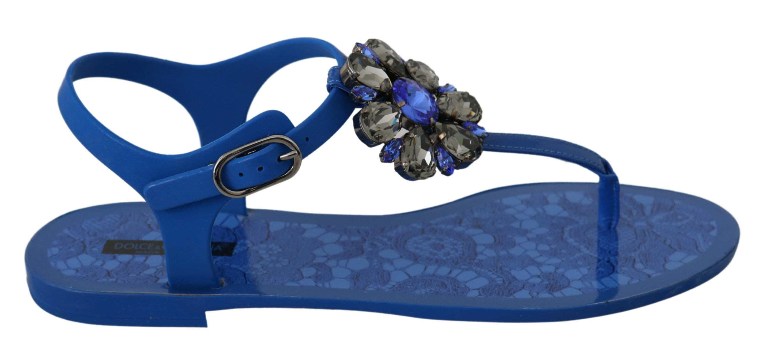 Dolce & Gabbana Women's Crystal Sandals Blue LA6568 - EU36/US5.5