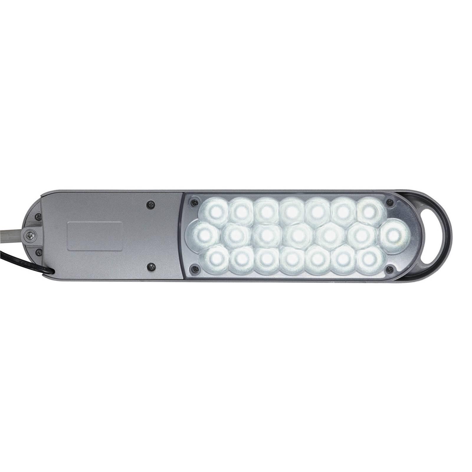 LED-pöytävalaisin Atlantic, jalusta, hopea