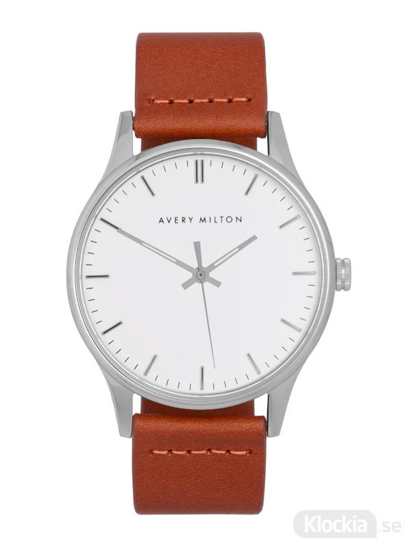 Avery Milton Como Brown Silver/White 1193402220 Unisexklocka
