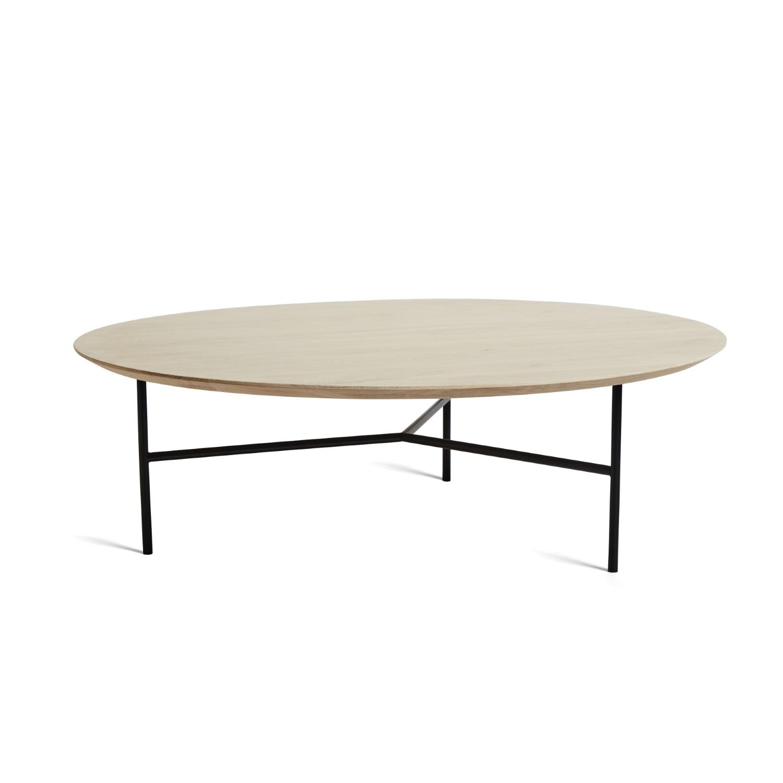 TRIBECA soffbord 110 cm såpad ek / svart, Mavis