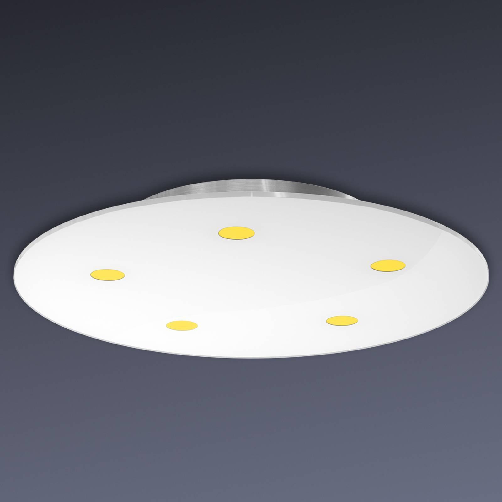 Dimbar taklampe Sunia med LED-lys