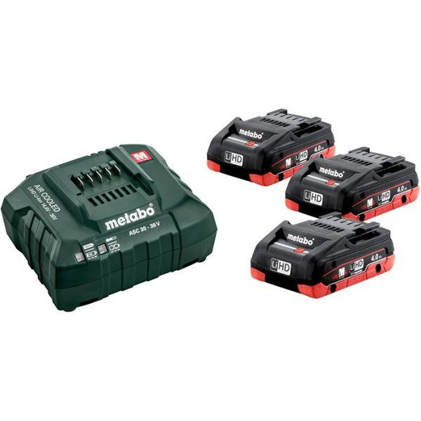 Metabo Bas-set Ladepakke 3 stk. 4,0Ah-batterier