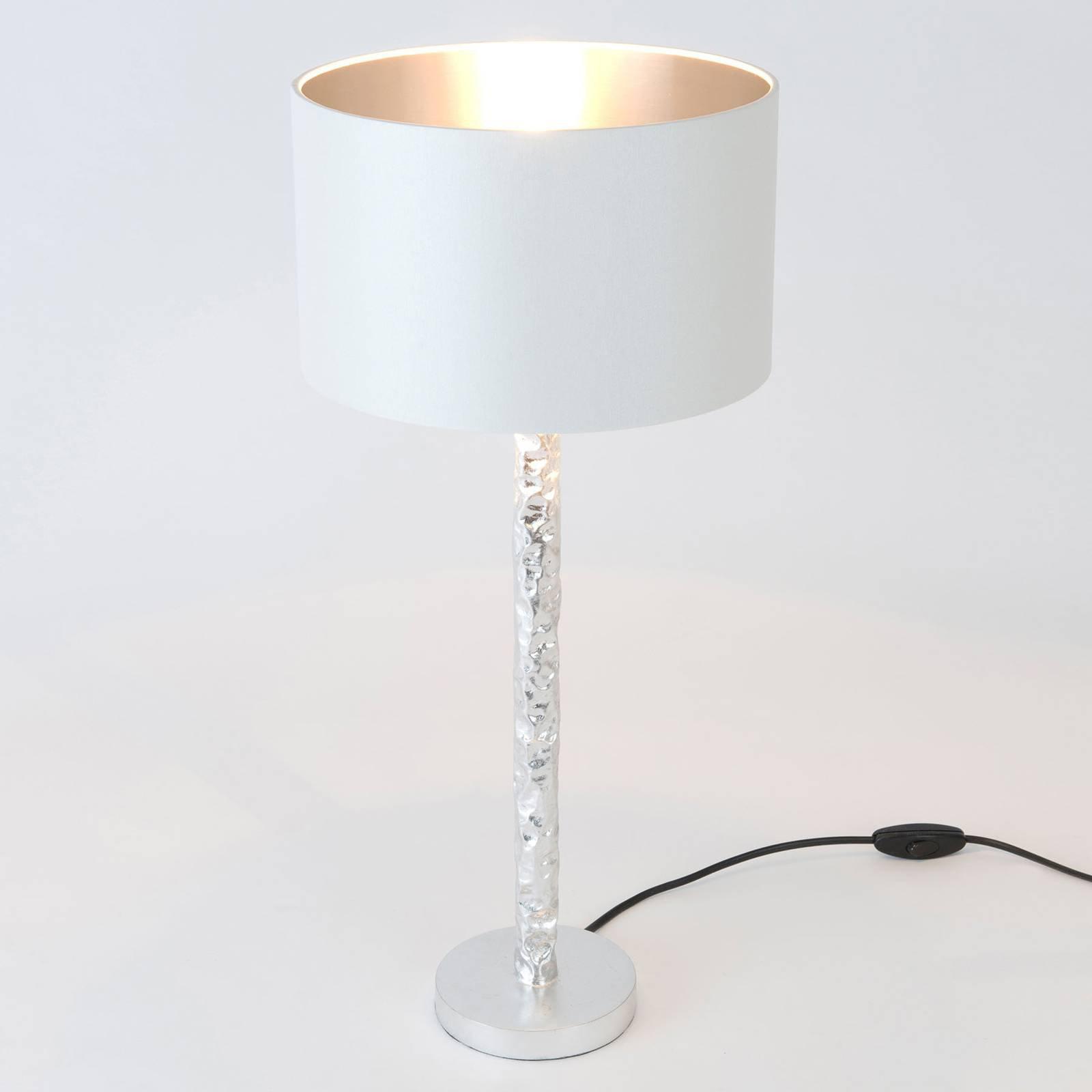 Bordlampe Cancelliere Rotonda, hvit/sølv, 57 cm