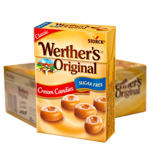 Werthers Org. Sockerfri 42g - 12st
