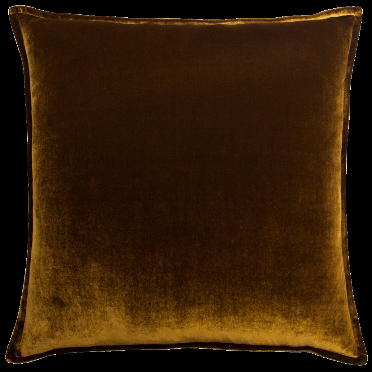 de Le Cuona   Silk Velvet And Linen Flange Cushion Gold