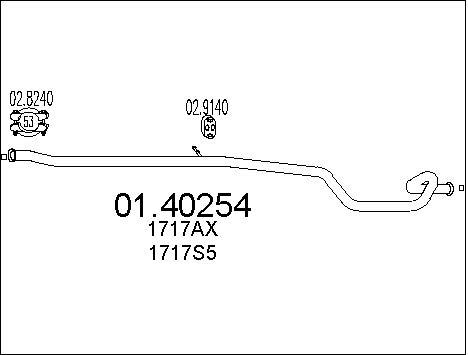 Pakoputki MTS 01.40254