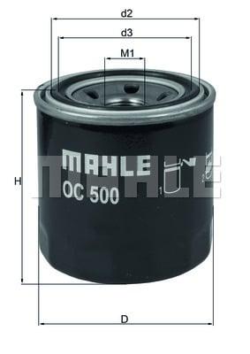 Öljynsuodatin MAHLE ORIGINAL OC 500