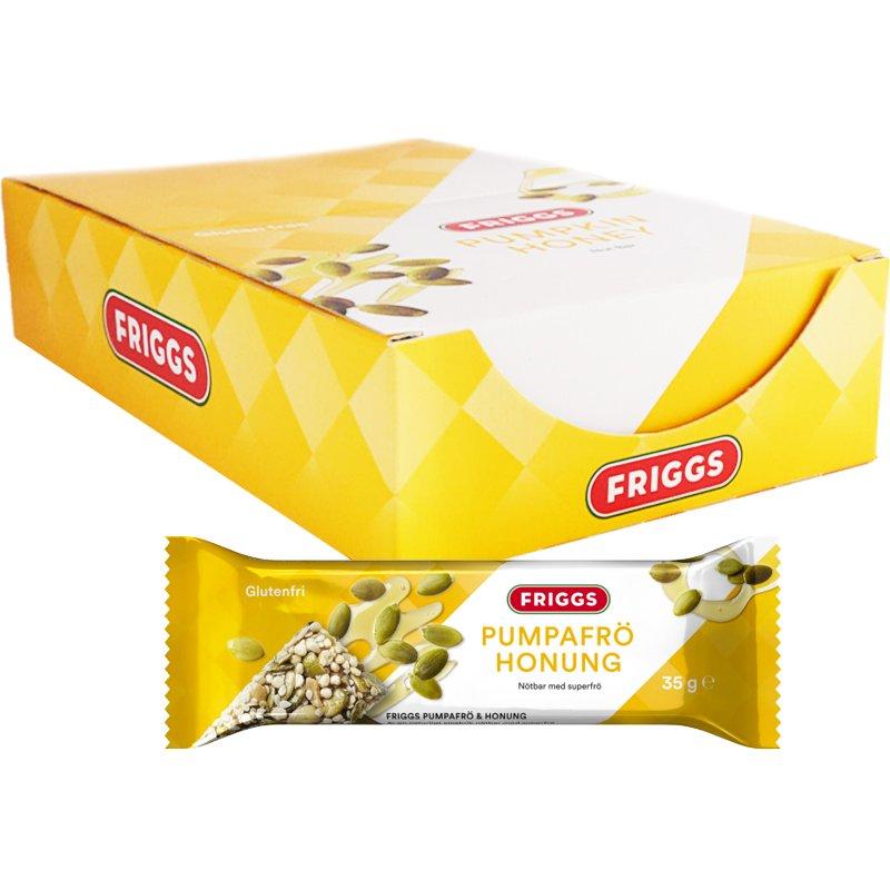 Laatikollinen pähkinäpatukoita, kurpitsansiemen & hunaja 18 x 35 g - 67% alennus