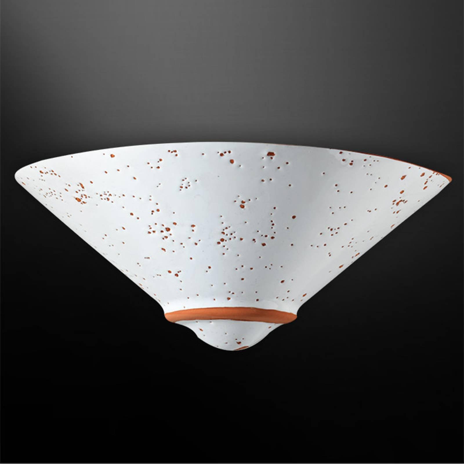 Vegglampe Caroline med terrakottadetaljer