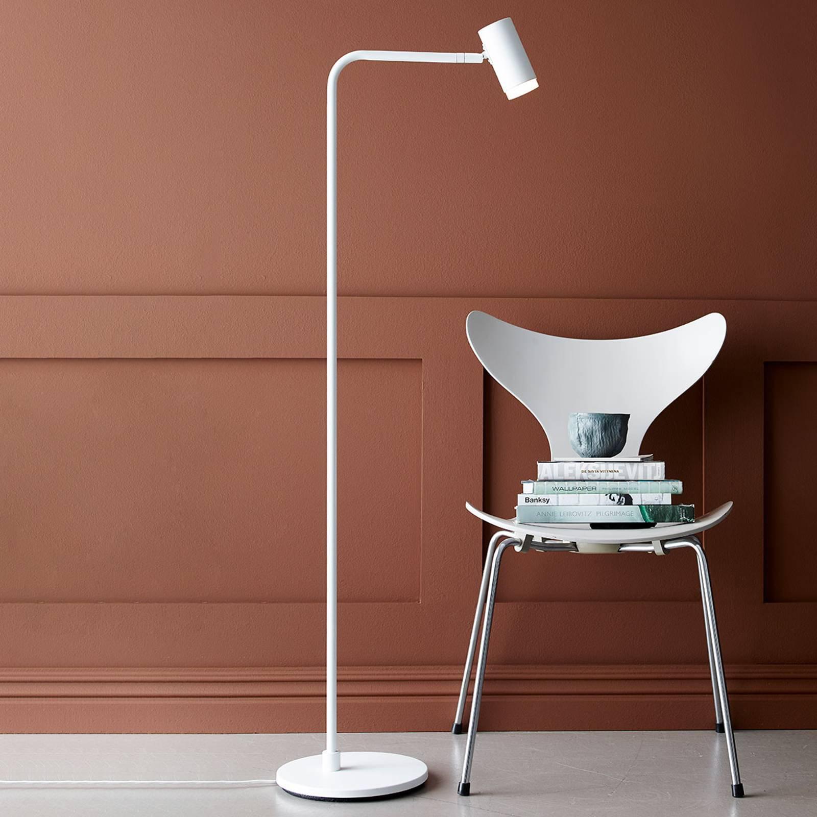 LED-gulvlampe Cato Q med dimmer, hvit
