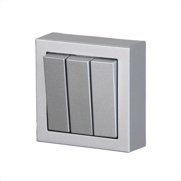 ABB Impressivo Kytkin 3x1-napainen, pinta-asennettava Alumiini