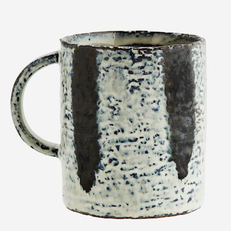 Stoneware mug w/ stripes