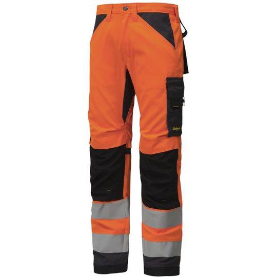 Snickers 6331 AllroundWork Työhousut heijastimet, oranssi C44