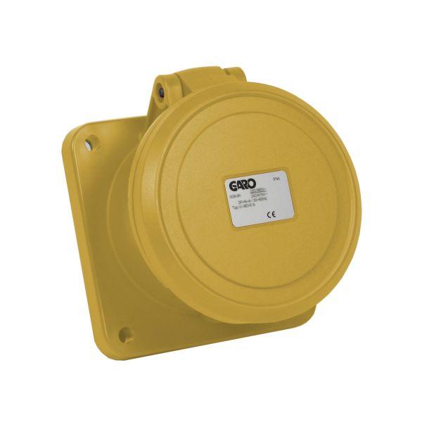 Garo UI 363-4 S Paneelin ulostulo IP44, 4-napainen, 63A Keltainen, 4 h