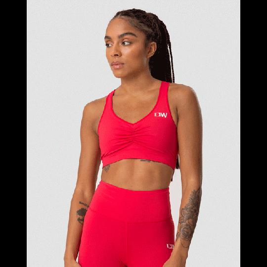 Scrunch Sports Bra, Raspberry Red
