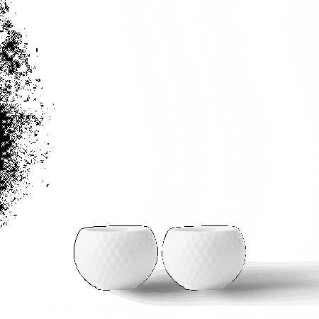 Rhombe Lykt Ø6,5 cm Hvit Porselen 2-pack