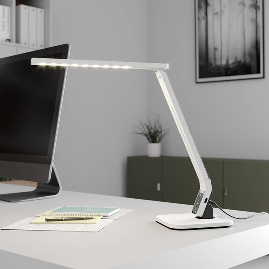 Arcchio Lianel LED-skrivebordslampe, hvit