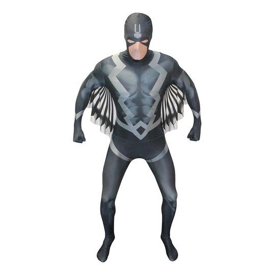 Black Bolt Deluxe Morphsuit Maskeraddräkt - Medium