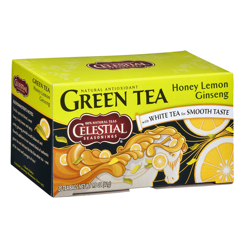 "Vihreä tee ""Honey Ginseng & Lemon Flavor"" 20-kpl pakkaus - 63% alennus"