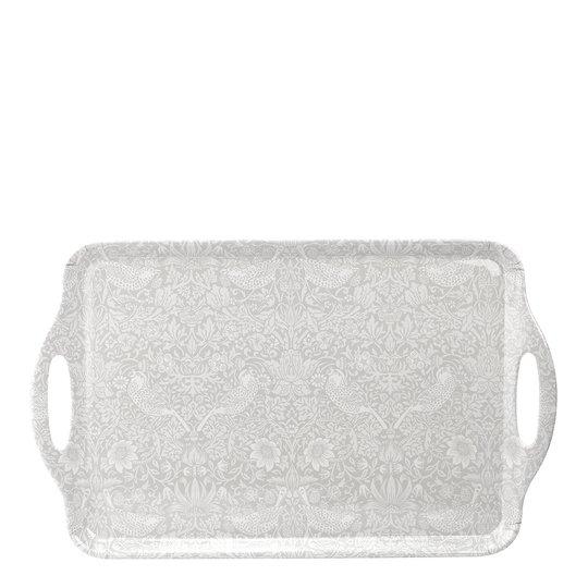 Morris & Co - Strawberry Thief Bricka med handtag 48x29,5 cm Pure Vit