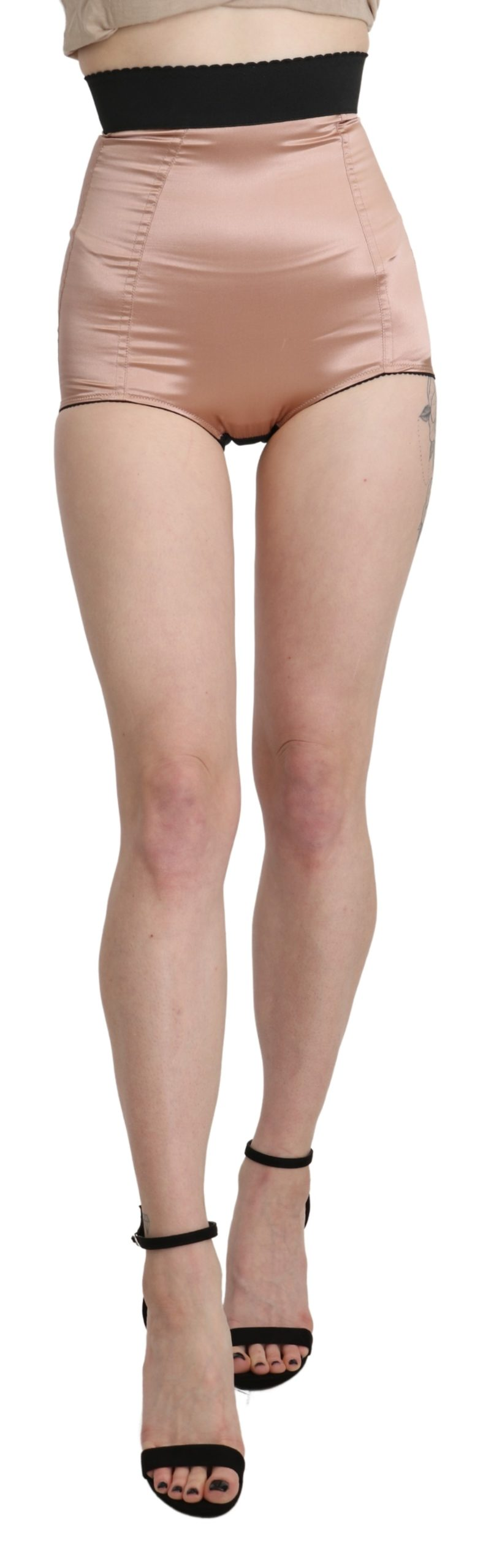 Dolce & Gabbana Women's High Waist Shorts Beige SKI1392-40 - IT40|S