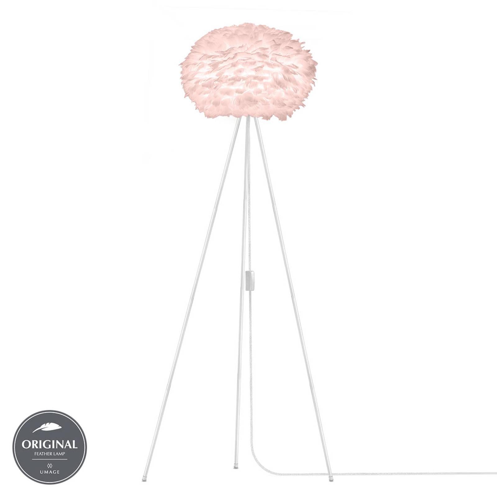 UMAGE Eos medium gulvlampe rosa tripod, hvit