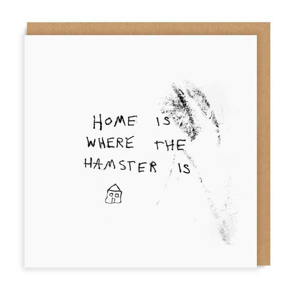 Hamster Square Greeting Card