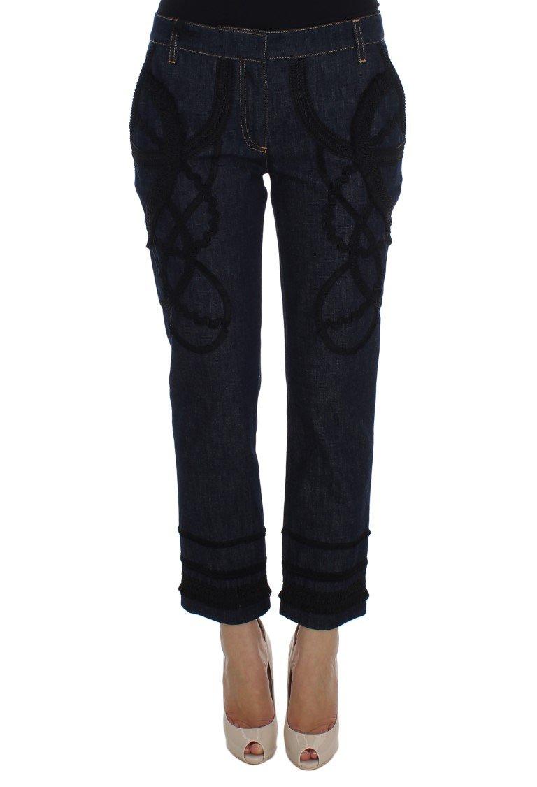 Dolce & Gabbana Women's Denim Cotton CAPRI Torero Jeans Blue SIG20020 - IT42 M