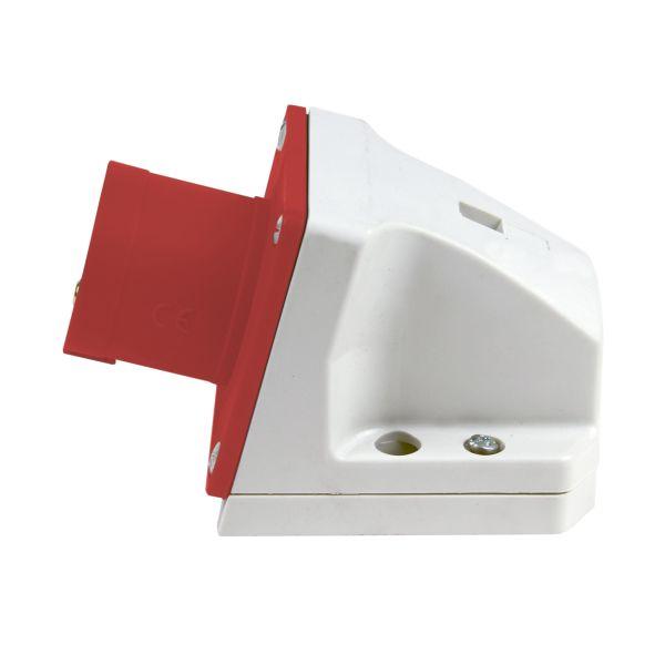 Garo Basic Vegginntak IP44 5-polet 16 A 6 h, rød