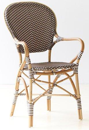 Isabell stol med armlene - Brun