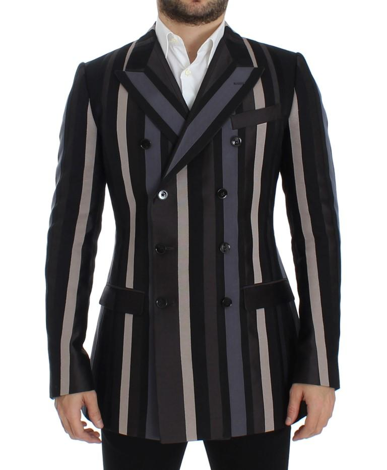 Dolce & Gabbana Men's striped Wool slim Blazer Multicolor SIG12279 - IT48 | M