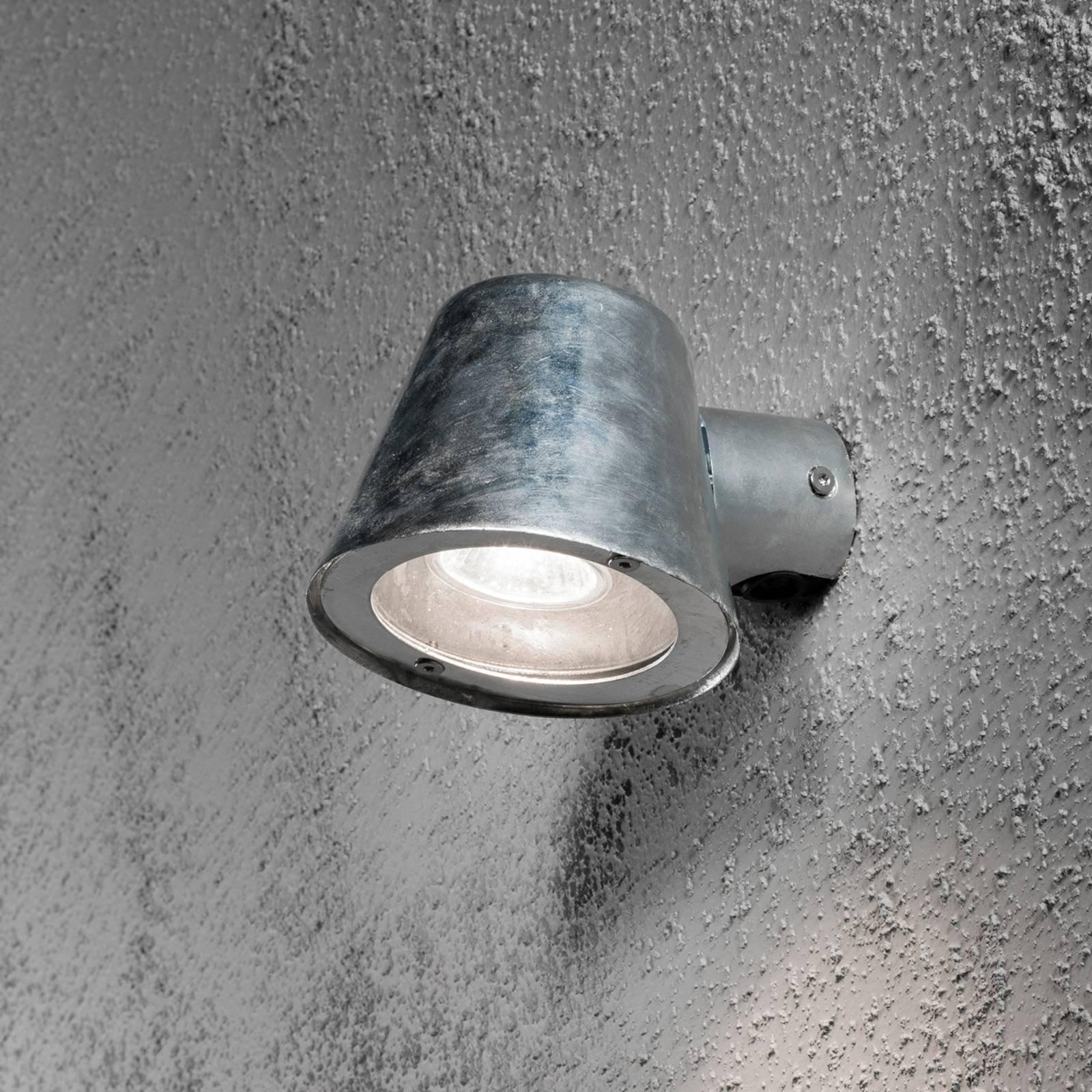 Utendørs vegglampe Trieste av stål, galvanisert