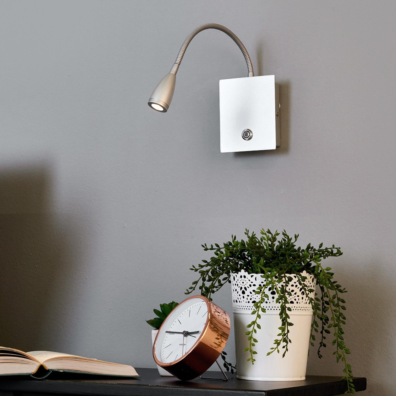 LED-seinävalaisin Torin, himmenn.,hopeanharmaa