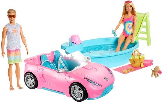 Barbie & Ken Dukker Med Bil Og Basseng