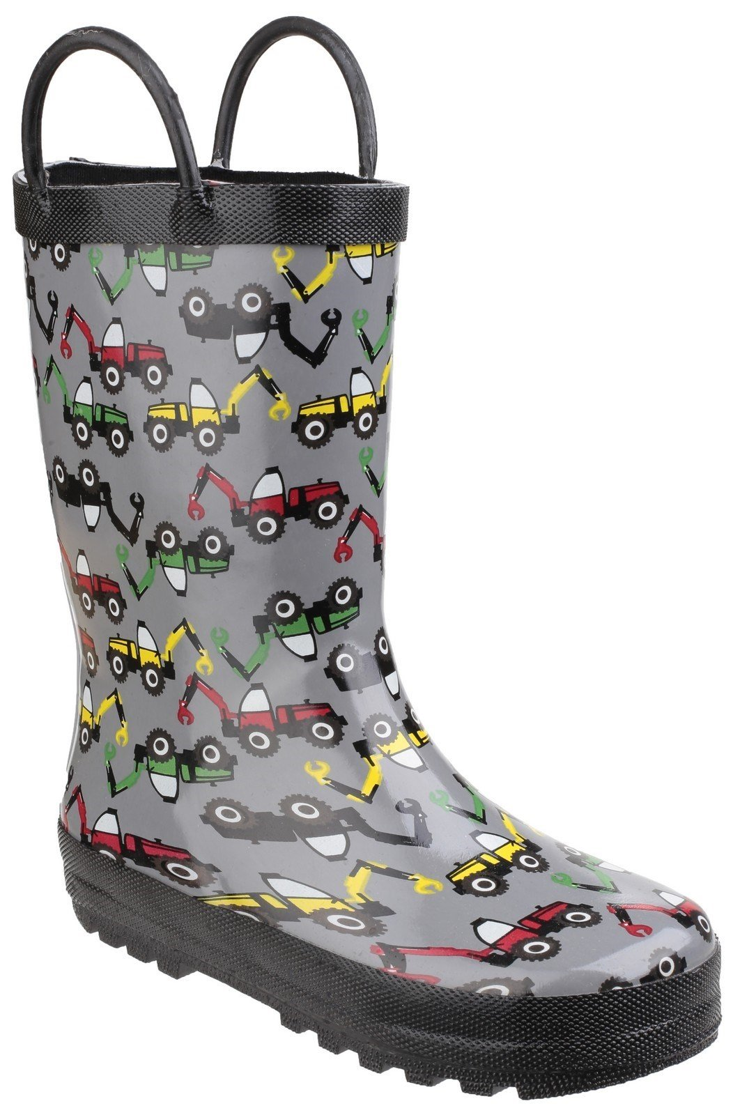 Cotswold Kids Puddle Waterproof Pull On Boot Multicolor 20962 - Digger 4.5