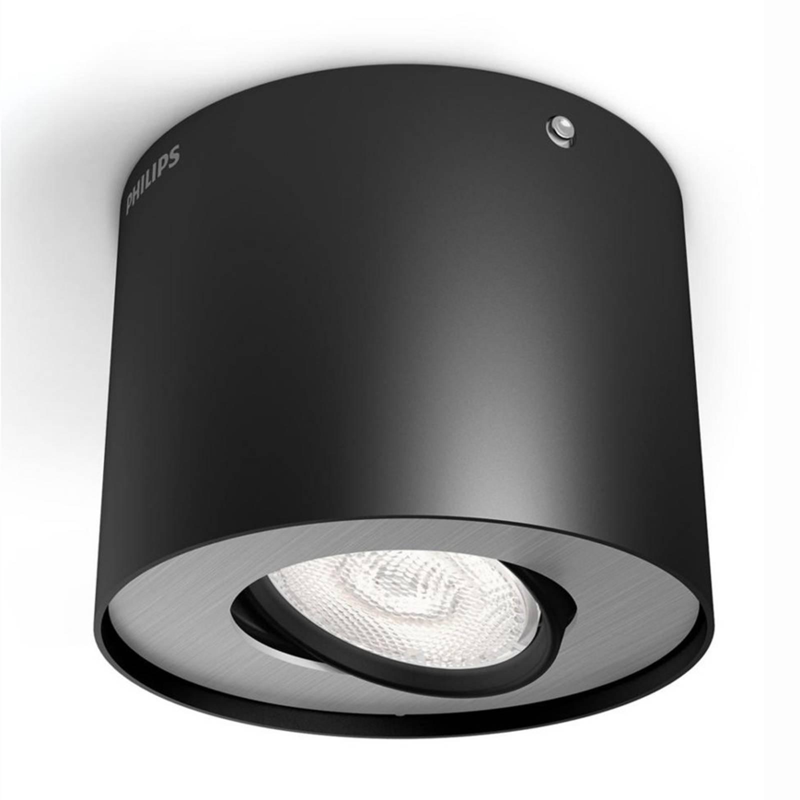 Svart LED-downlight Phase