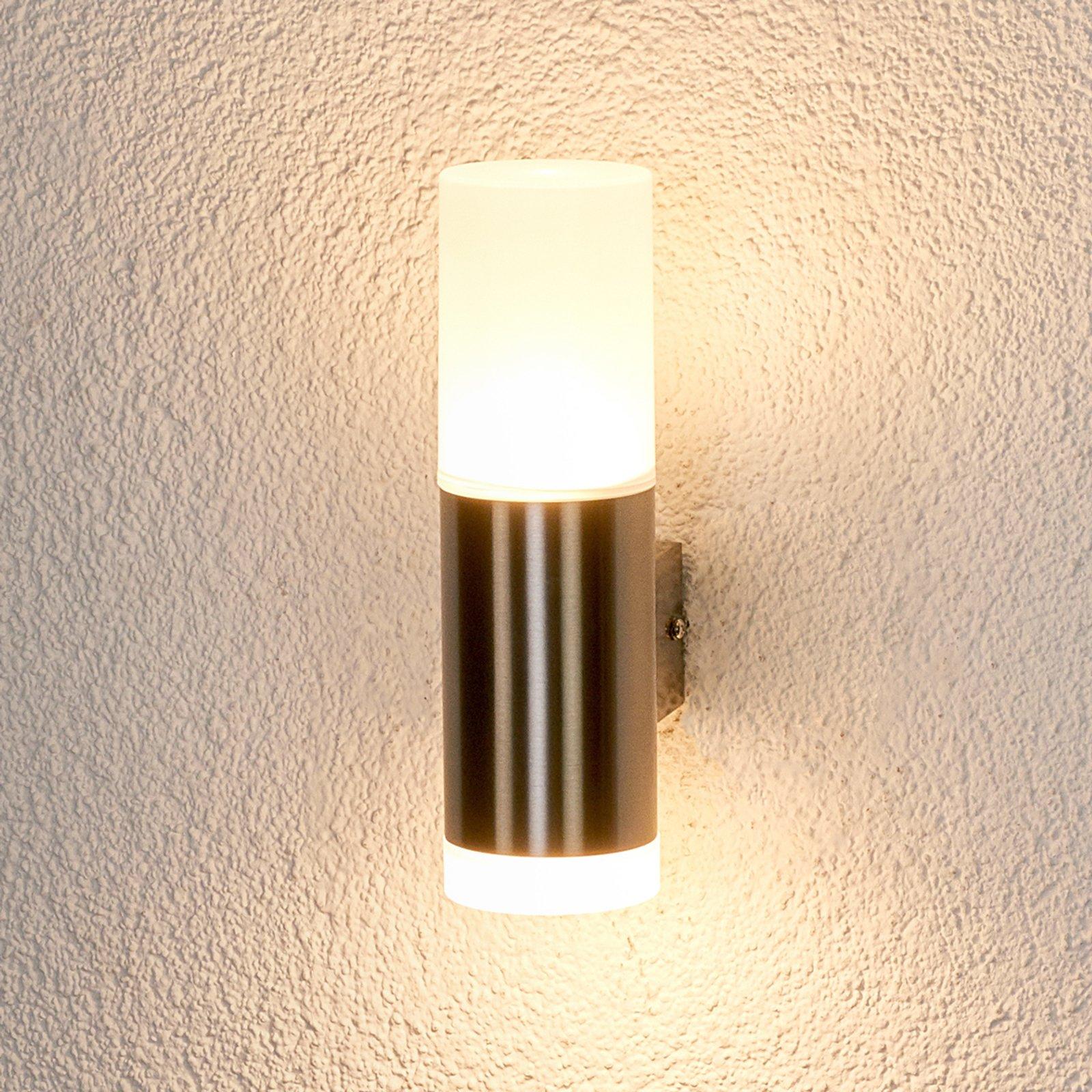 Gabriel - LED-utevegglys, edelstål