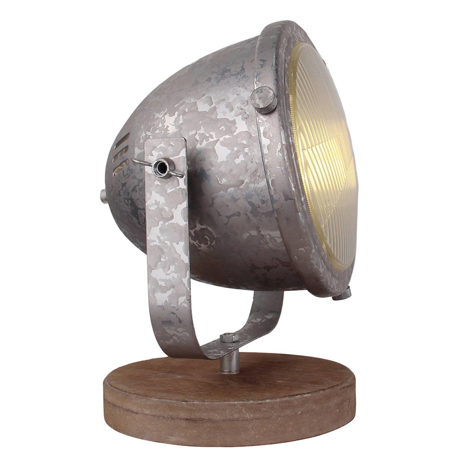 Bordlampe Woody, galvanisert