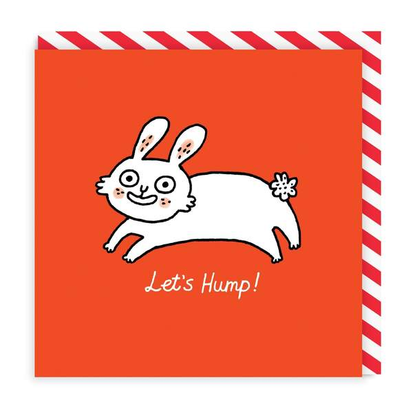 Let's Hump Square Greeting Card