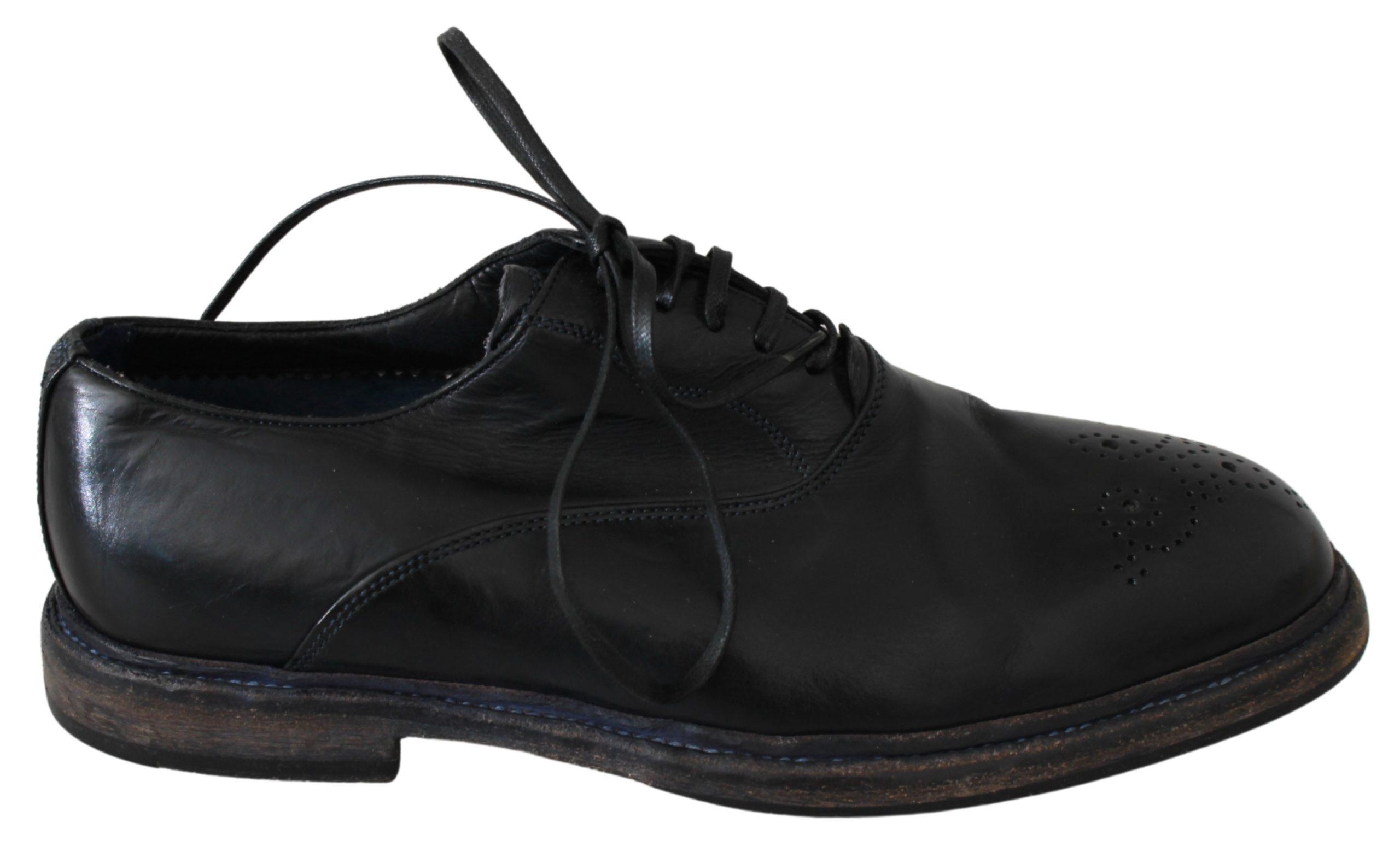 Black Leather Derby Dress Formal Shoes - EU39/US6