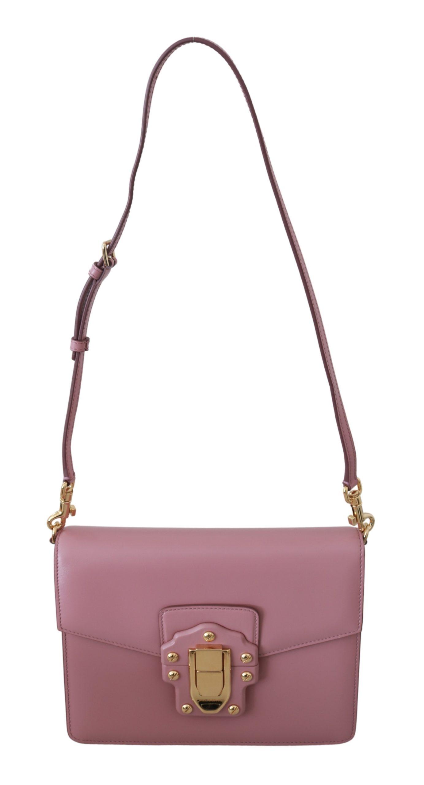 Dolce & Gabbana Women's Leather LUCIA Shoulder Bag Pink VAS9217