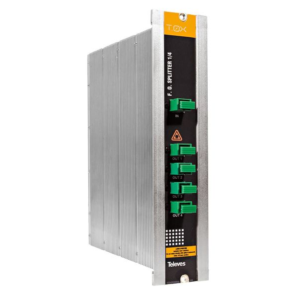 Televes 2339 Optisk splitter med SC/APC-tilkobling 4-veis
