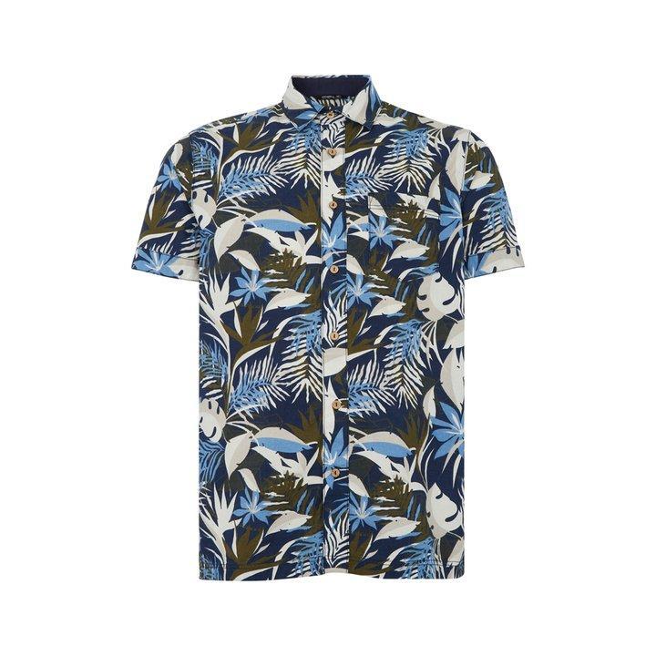 O'Neill Men's LM Wailuku SS Shirt Various Colours 8719403608394 - XL Blue AOP with Brown