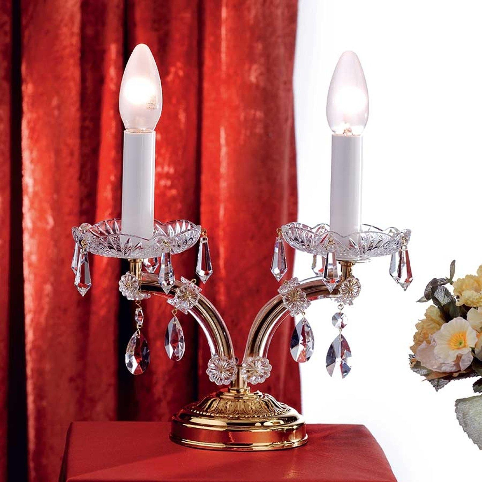 Elegant TJURA bordlampe med krystaller